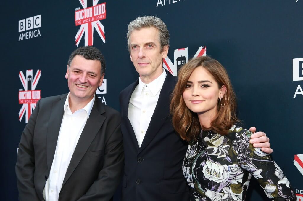 Doctor Who World Tour New York - Steven Moffat, Peter Capaldi, Jenna Coleman - (c) BBC America / Amy Sussman