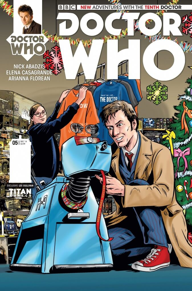 Issue #5 – 10th Doctor – Doctor Who Comics Christmas triptych cover variant from Titan Comics/The WHO Shop