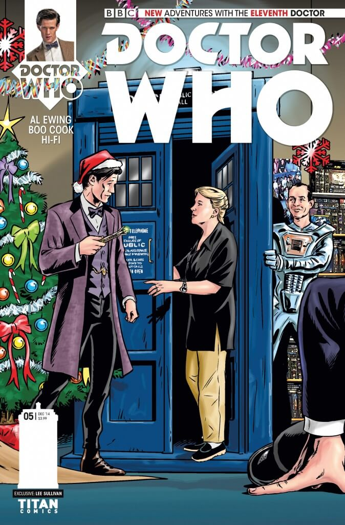 Issue #5 – 11th Doctor – Doctor Who Comics Christmas triptych cover variant from Titan Comics/The WHO Shop