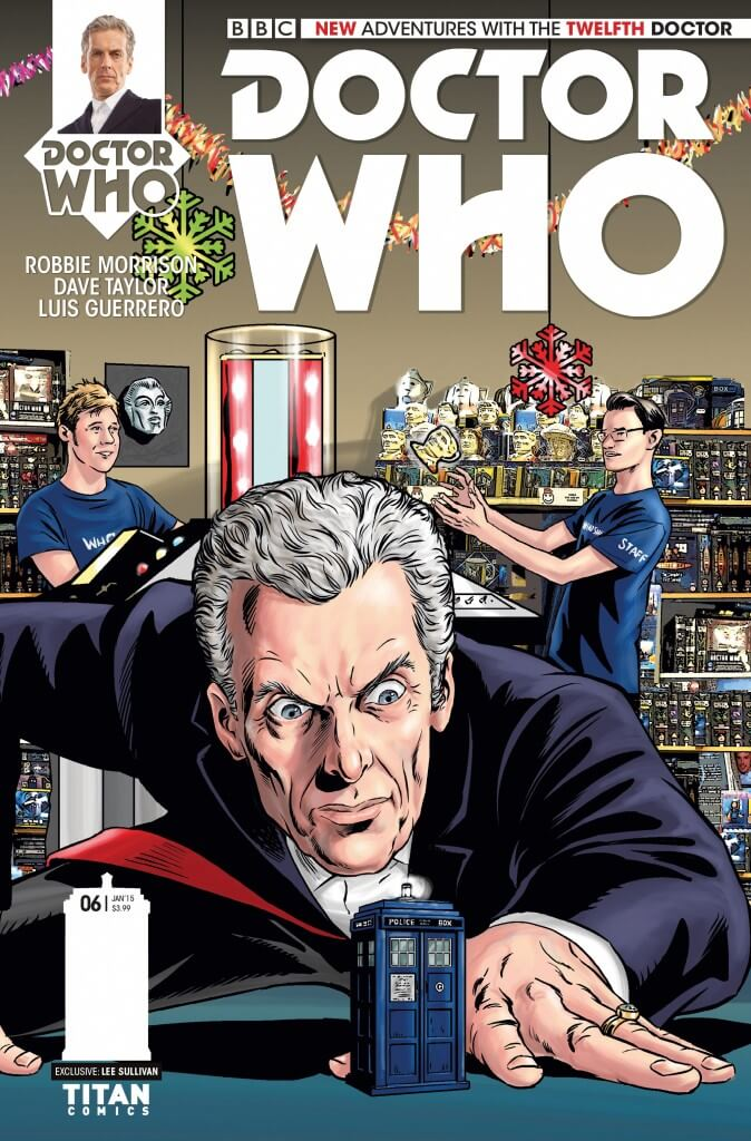 Issue #3 – 12th Doctor – Doctor Who Comics Christmas triptych cover variant from Titan Comics/Who Shop