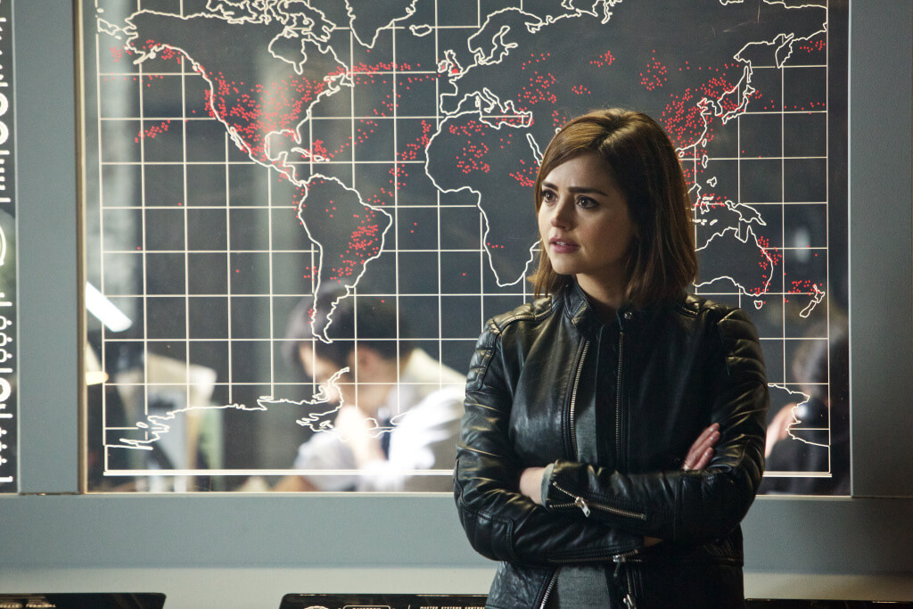 Doctor Who - S9E1 The Magician's Apprentice - Picture Shows: Clara (JENNA COLEMAN) - (C) BBC - Photographer: Simon Ridgway