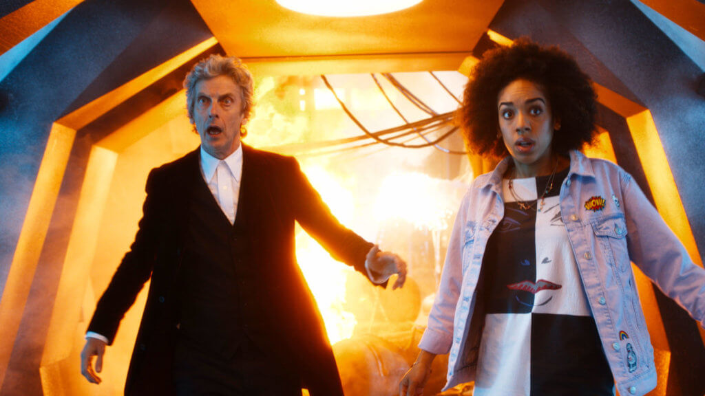 Doctor Who S10 The Doctor (PETER CAPALDI), Bill (PEARL MACKIE) - (C) BBC - Photographer: screen grabs